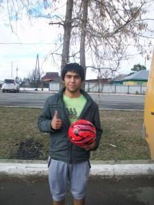 КаххоровЖеня-победитель конкурса Ведение мяча