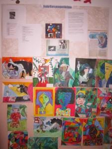 Стенд, посвящённый П.Пикассо